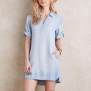Cloth & Stone chambray dress gray ombré tab Sleeve